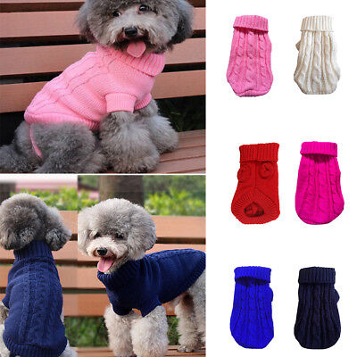 Pet Dog Puppy Clothes Knitted Dog Jumper Pet Sweater For Small Dogs Winter