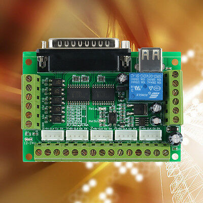 Cnc 5 Axis Interface Breakout Board For Stepper Motor Driver Cnc Mill Mach3 OE