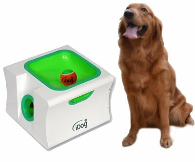 iDog Mini Dog Fetch Ball Launcher Pet Ball Thrower Interactive Automatic Tennis