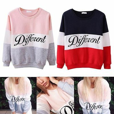 Women's pullover with knitted cap in stripes with long letters New Hot ILC
