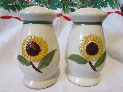 Shawnee Pottery Large Sunflower Salt and Pepper Shakers Range Set