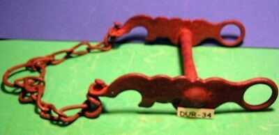 Antique late 1800's Sweet Iron Humming Bird Horse Bit & Rein Chains MAKE OFFER