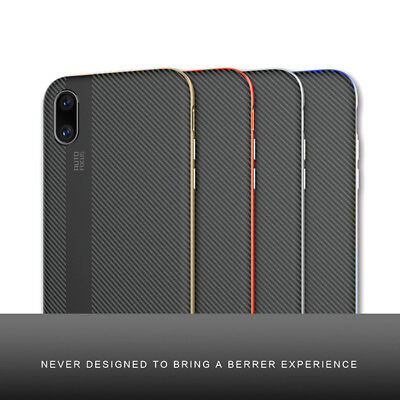 New Luxury Carbon Fiber TPU Silicone Ultra Slim Case Cover for iPhone X 7 8 Plus