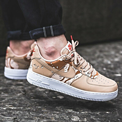 Nike AIR FORCE 1 '07 LV8 Camo Beige Size 7 8 9 10 11 12 Mens Shoes 823511-202
