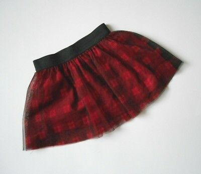Epic Threads Girl Plaid Skirt Toddler Girl's Size 3T Red Tulle Plaid
