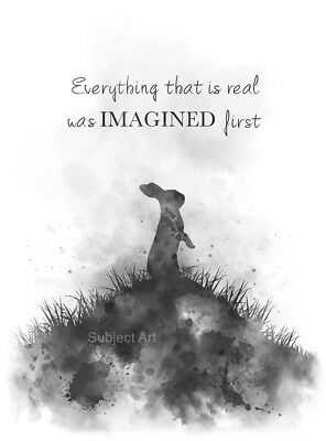 ART PRINT VELVETEEN Rabbit Quote, Inspirational, Gift, Wall ...