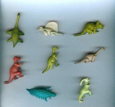 8 Nabisco Cereal Premiums 1950's Dinosaurs