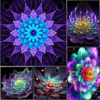 IT- 5D DIY Diamond Beauty Flower Embroidery Painting Cross Stitch Home Decor Swe