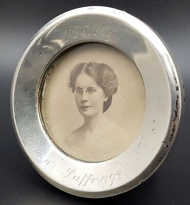 Antique Silver Mounted Photograph Frame Inscribed Mary, Women's Suffrage