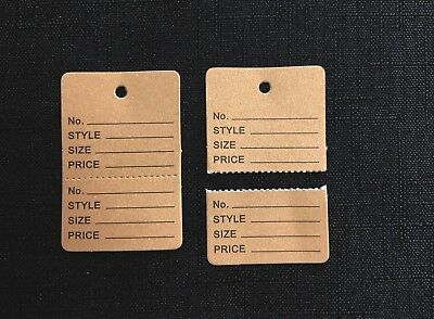 Kraft/Khaki Clothing Price Tagging Tags Tagger Gun Hang Label White Tears off