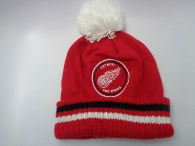 f19a51f4815 Detroit Red Wings Mitchell   Ness NHL Knit Cuffed Pom Red Hat Cap Toque  Beanie O