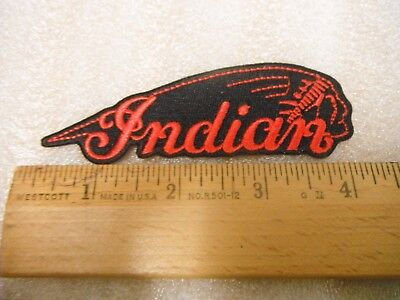 Indian Motorcycle (red) Iron on Patch