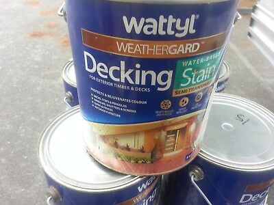 WATTYL WHEATHERGARD 4 LITRE  WATER-BASE DECKING STAIN MIX colour
