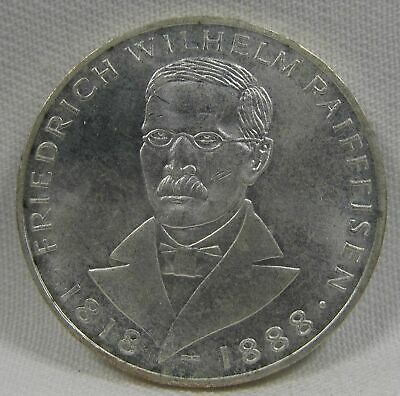 1968-J Germany 5 Mark .625 Silver .225oz NCH UNC Coin AE449