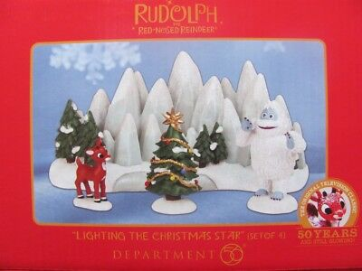 LIGHTING THE CHRISTMAS STAR Figurine Set Dept 56 2013 rudolph misfit toys NEW
