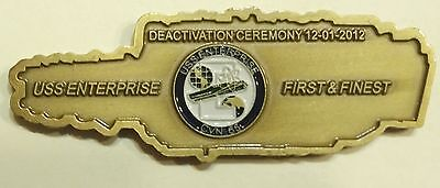 USS Enterprise (CVN-65) Deactivation Ceremony 12-01-2012 Navy Challenge Coin