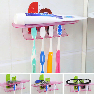 Durable Toothbrush Holder Strong Suction Stand For Tooth Brush Toothpaste Razor