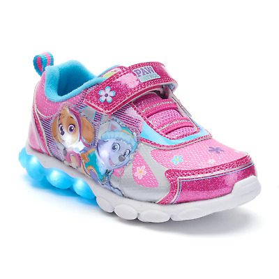 Girls Toddler Child Paw Patrol Light Up Sneakers Size 7 or 8 Skye Everest