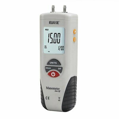Rupse LCD Digital Manometer Differential Air Pressure Meter Gauge ±2Psi B0205