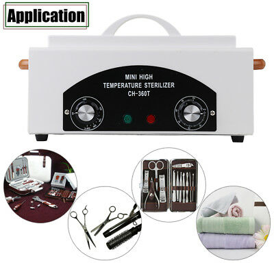 Portable Dry Heat Nail Cabinet Sterilizer UV Autoclave Dental Medical Instrument