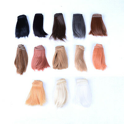10x100cm DIY Welf Fringe Wig High-temperature Wire Hair for 1/3 & 1/4 BJD Doll