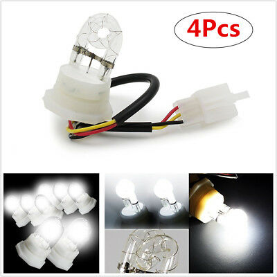 4x White HID Hide-A-Way Flash Strobe Light Replacement Bulbs 20W DC12V NEW