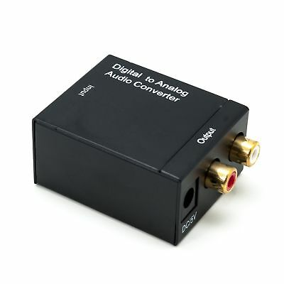 Digital Optical Coaxial Toslink to Analog RCA L/R Audio Converter Adapter