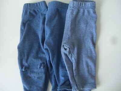 Baby Girls Denim Legging X 3 Bundle Job Lot Up To 3 Mths Good Condition