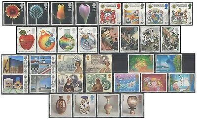 1987 Royal Mail Commemorative Sets MNH. Sold separately & as full year set.