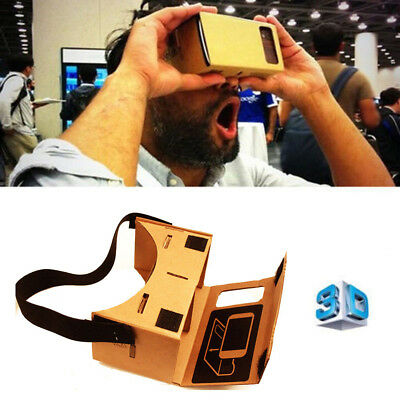 Google DIY Cardboard VR BOX Viewer 3D Glasses For iPhone 5s 6s Samsung S6 edge+
