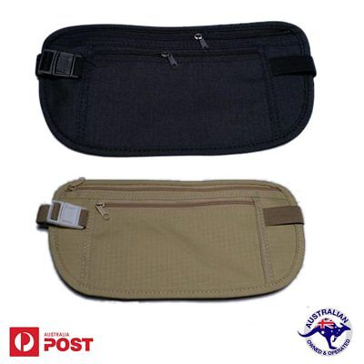 Security Travel Pouch Passport Waist Money Belt Secure Bag Ticket & Card Wallet