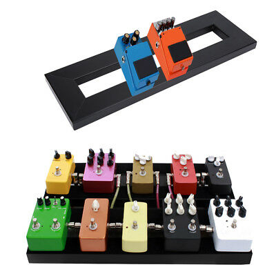 Electric Guitar Effect Pedal Board Alloy S/M with Hook & Loop Black Guitar Parts