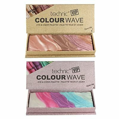Technic VIP Eyeshadow Blusher Highlighter Make Up Palette High Pigment Baked Set