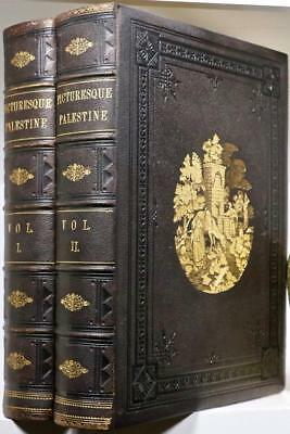 1881 Picturesque Palestine Holy Land Ancient Egypt Jerusalem Petra Israel Folios
