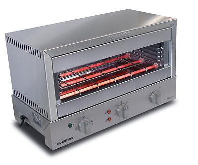 Roband Grill Max Toaster 8 Slice, Glass Elements Gmx810G