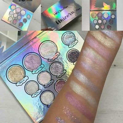 Womens Glitter Eyes Horse 11 Colors Palette Eyeshadow Glitter Glow Make-Up ILC