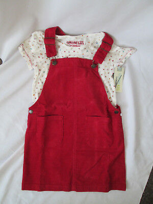 Girls skirt overalls 2 pc. shirt OSHKOSH by Gosh Genuine Kids 6 6x Red NEW
