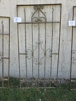 Antique Victorian Iron Gate Window Garden Fence Architectural Salvage #768