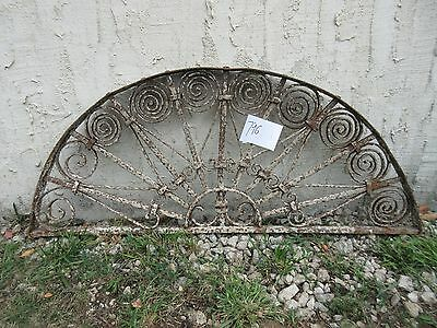 Antique Victorian Iron Gate Window Garden Fence Architectural Salvage #796