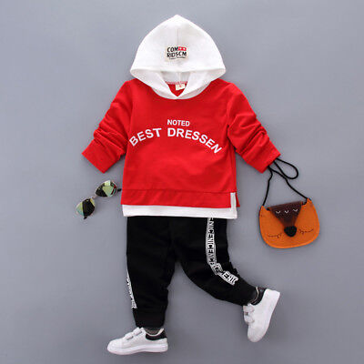 2PC Kids Baby Girl Outfits Clothes Clothing Sets Infant Girls Suits Coat + Pants