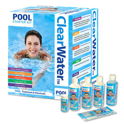 Clearwater Pool Starter Kit Water Treatment Swimming Hot Tub Cleaning Pad Free