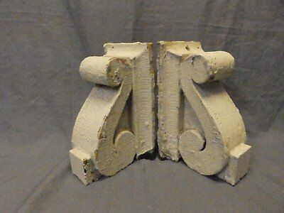 Antique PR Wood Small Corbels Gingerbread Architectural Shabby Vtg Chic 623-17P