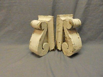 Antique PR Wood Small Corbels Gingerbread Architectural Shabby Vtg Chic 625-17P