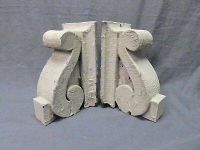 Antique PR Wood Small Corbels Gingerbread Architectural Shabby Vtg Chic 632-17P