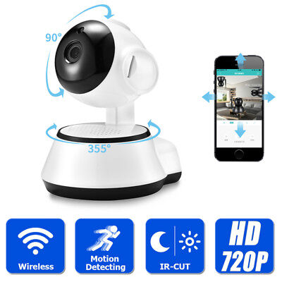 720P Wireless Indoor IP Camera IR WiFi Home Pet Baby Security System / SD Card