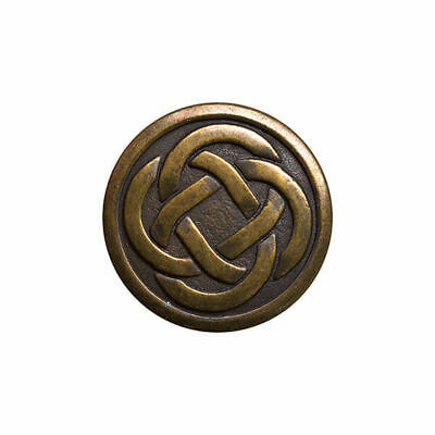 Oxidised Old Brass Colour Metal Celtic Knot Buttons - 3 Sizes - 15mm, 19mm, 23mm