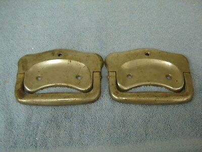 Pair of Vintage Metal Casket Handles