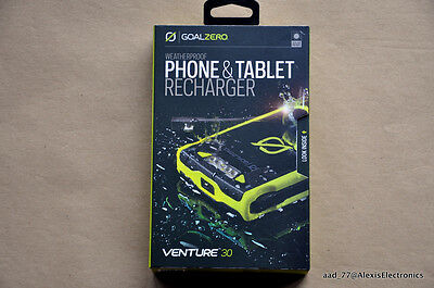 New Goalzero Venture 30 Recharger Waterproof For Phone Tablet Fast Free Shipping