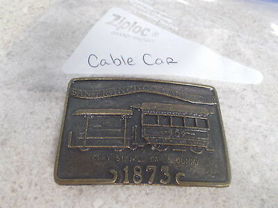 Vintage San Francisco Cable Car Belt Buckle