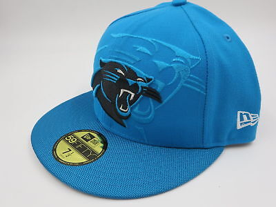 422d2df796849 Carolina Panthers Nfl Official Sideline New Era 59Fifty Blue Fitted Hat Nwt